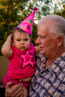 Birthday Girl & Grandpa